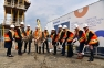 Sanofi Executives Break Ground  for Building 100